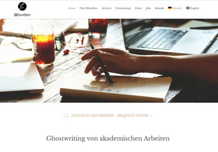 Referenz Bewritten: Website, Verwaltungssoftwarem, Web-App, AdWords, SEO
