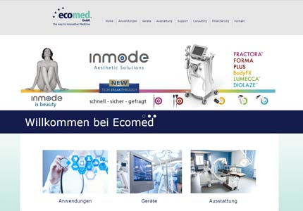 Referenz: Ecomed, Website und SEO