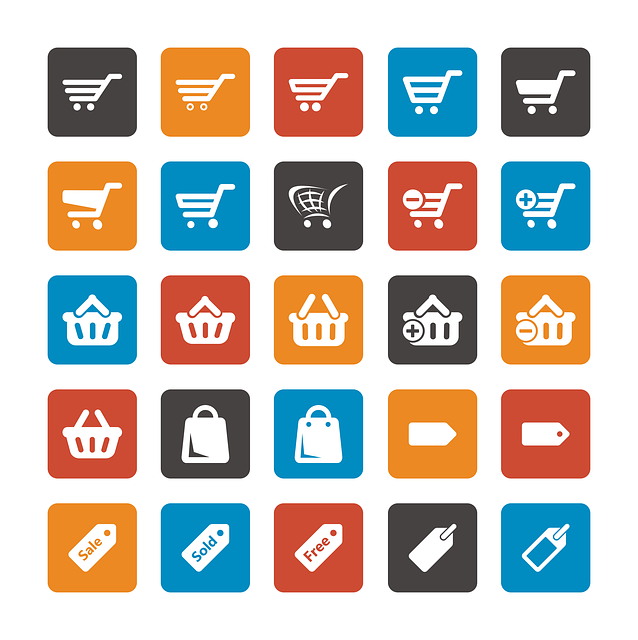 Online Shop System Icons